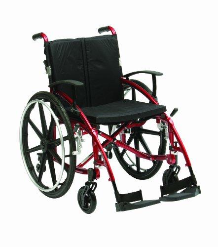 Drive Medical XSESMAG18RD Enigma Spirit Rollstuhl mit Sporträdern, 46 cm, Rot