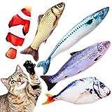 TILLMANN'S Katzenminze Spielzeug Funny Fish Katzenminze Kissen als Set mit 5 Fischen I wie Baldrian für Katzen I mit Katzenminze gefüllte Fisch Kissen