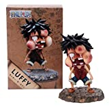 SZSOZD Anime One Piece Youth Batido Luffy con Swell Face Cute Figure Model Toys...