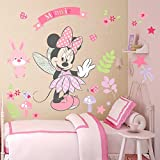 Kibi pegatinas infantiles pared minnie pegatinas decorativas pared mickey mouse stickers pared mickey dormitorio calcomanias para niños pared calcomanias mickey