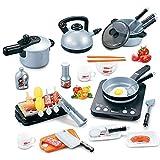 FZTX-LPX Juguetes de Cocina para niños, simulación eléctrica, Olla arrocera, Cocina eléctrica 36 Piezas de Utensilios de Cocina, Juegos de rol, Muy adecuados para niños y niñas.