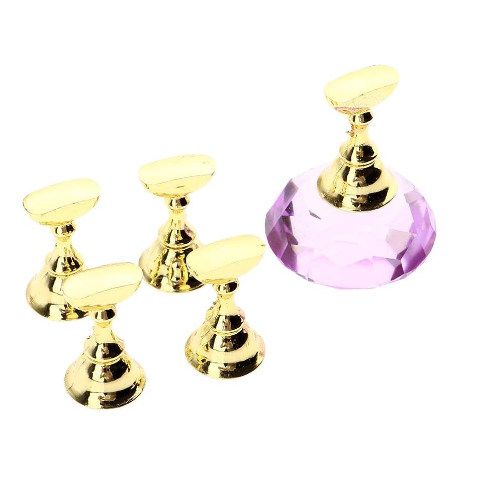 服を着るダンス計画CUTICATE ネイルチップスタンド ネイルディスプレイホルダー ネイルデザイン用 全2色 - 紫