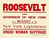 Oregon Woman Suffrage Poster dated 1910 The poster salutes Theodore Roosevelt in his support of Womans Rights while Governor of New York Poster Print by unknown (18 x 24)