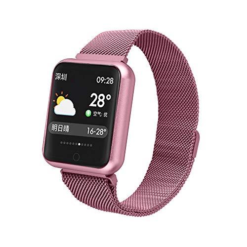 YWXG Fitness Armband, Wasserdicht IP67 Fitness Tracker, Pulsuhren, Schrittzähler, Kamerasteuerung, Vibrationsalarm Anruf SMS Whatsapp Beachten kompatibel mit iPhone Android Handy