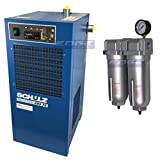 Schulz REFRIGERATED AIR Dryer for AIR Compressor, Compressed AIR Systems, 75 CFM, Good for 15HP & 20HP COMPRESSORS (with PRE-Filters)