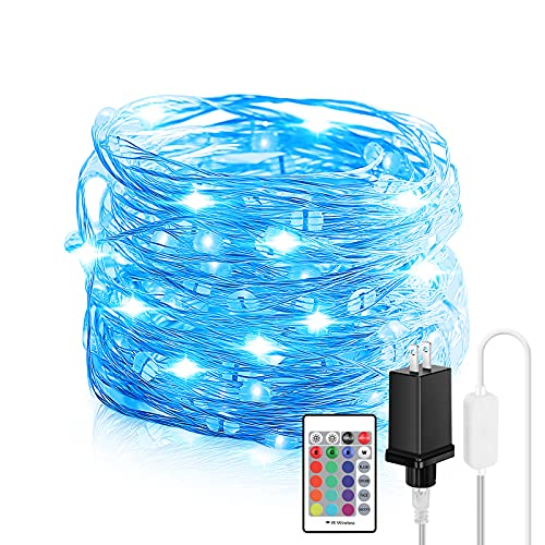 Fairy Lights Plug in, 66FT 200 LED Waterproof Fairy String Lights with Remote, 16 Color Changing Twinkle Firefly Lights with 4 Modes & Timer for Bedroom Wall Wedding Christmas Home Patio Party Decor