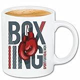 taza para café Boxeo del club del boxeo Guantes de boxeo CAJA DE ROCKY STALLONE SPARRING BOXEADOR Caso duro de la cubierta Teléfono Cubiertas cubierta para el330 ml de cerámica en blanco