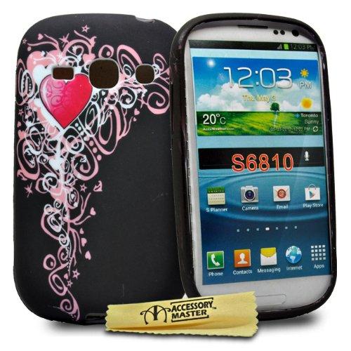 Accessory Master - Custodia in Gel Silicone per Samsung Galaxy Fame S6810, Motivo: Albero con Cuore