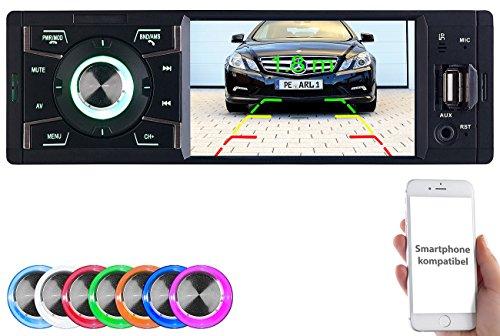 Creasono Autoradio 1DIN: MP3-Autoradio mit TFT-Farbdisplay, Bluetooth, Freisprecher, 4X 45 Watt (Autoradio mit Display)