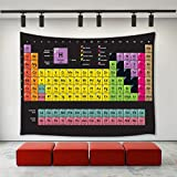 LBKT Modern Tapestry, Periodic Table of Elements PHD Chemistry Student Family for Science Lover Education, Wall Hanging for Bedroom Living Room Dorm, 40 W x 60 L Inches, Multicolor