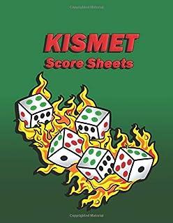 Kismet Score Sheets: Blank form score sheet notebook for the dice game Kismet.