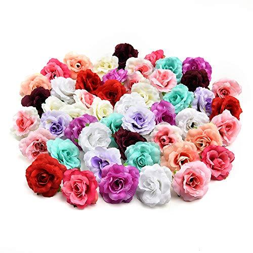 AzXU - Flores de seda decorativas, 30 unidades de 4cm