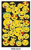 Andatex Toalla de Microfibra Modelo Emoji - Emoticonos Móvil - 100x180cm para playa o piscina - gran calidad y secado rápido