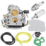 ChaRLes Carburetor Carb Kit Para C1T-W33 Carburador 4 Zama Husqvarna 240 240E 235 235E