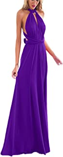 Women Transformer Evening Long Prom Dress Multi-Way Wrap Convertible Floor Length Wedding..