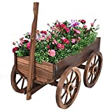 Wood wagon Flower Planter