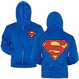 DC Comics Superman Symbol Zip-Up Hoodie-XX-Large Blue