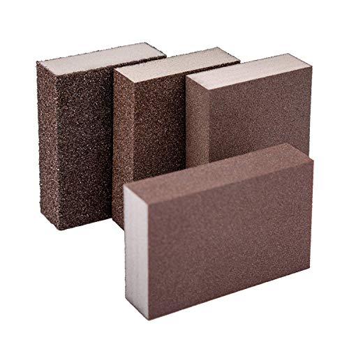 KINBOM 4 Stück Schleifschwamm Nass- und Trockenschleifblock grob/mittel/fein/superfein 4 verschiedene Schleifpads