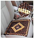 OnWheel FurnishMyAuto car Bead seat Wooden Cushion Cover pad for Acupressure Sitting in Brown Color