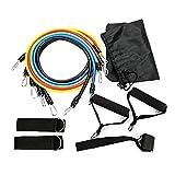 SlimpleStudio Entrenamiento de Fuerza, Adelgazamiento -Conjunto de Rally Deportivo Multifuncional Yoga Rally Rope Fitness Training Rally Band Elastic Rope 11 Piezas Set