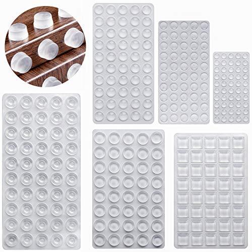 DONQL 272 Stück Gummifüße Transparent Selbstklebend Schutzpuffer Gummipuffer Anschlagdämpfer Möbelpuffer Elastikpuffer Lärm Dämpfung Pads 6 Größen
