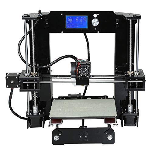 Z.L.FFLZ Imprimante 3D A6 imprimante 3D kit de Bricolage Ensemble Haute précision Auto Assemblage Heatbed LCD Affichage de l'écran TF Carte Off-Line Impression
