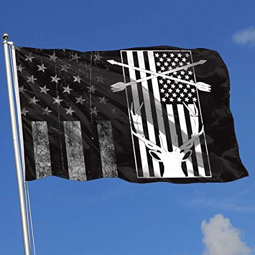AOTADer Abgenutzte Flaggen im Freien USA Flagge Bier Bogen Jagd Flagge für Sportfan Fußball Basketball Baseball Hockey