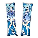 Aslogy Vocaloid Hatsune Miku Anime Pillow Case Cover 63 x 19.5Inch Cosplay Gift Peach Skin Hugging Body Pillowcase