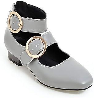 BalaMasa Womens Toggle Dance-Ballroom Casual Urethane Pumps Shoes APL10667