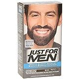 Just For Men, Tinte Colorante en gel para barba y bigote para hombre. Elimina las canas y cuida la barba en 5 minutos. Castaño Negro, 15 ml