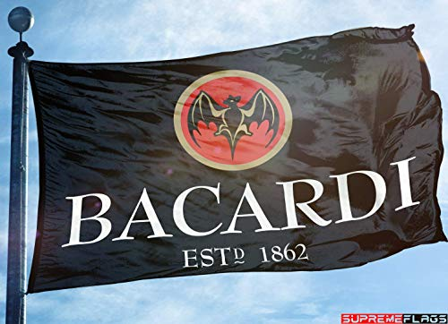 Bacardi Rum Flag Banner (90 x 150 cm) Alcohol Liquor Bar Man Cave Garage 1862 Flagge