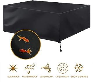 MORIASTER Funda Protectora para Muebles de jardín Funda Muebles Exterior Impermeable Anti-UV Protección Cubierta de Muebles de Mesas 210D Oxford Negro