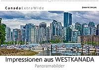 Impressionen aus WESTKANADA Panoramabilder (Wandkalender 2022 DIN A2 quer): Die wunderschoenen, ausdrucksstarken und emotionalen Panorama-Aufnahmen beweisen, das Westkanada ein Paradies fuer Naturliebhaber und andere Outdoor-Enthusiasten ist. (Monatskalender, 14 Seiten )