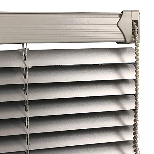 JLXJ Persianas Venecianas Persianas Venecianas de Aluminio Gris, para Baño de Cocina Ventana de La Oficina, 100% Apagón Impermeable,55cm/75cm/95cm/115cm/135cm/155cm de Ancho