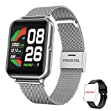 HopoFit Smartwatch, Reloj Inteligente Mujer Hombre Impermeable IP67 Pantalla Tátil Completa, Reloj Deportivo con Pulsómetro Podómetro Fitness Tracker para Android iOS Huawei Samsung