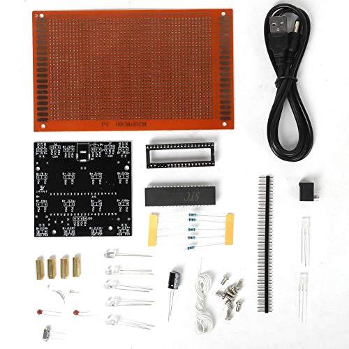 DIY Kit Rood Blauwe Kleur Productie LED Mistlamp Licht Onderdelen Module Elektronische printplaat Kit Praktijk Leren DIY Kits