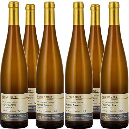 Weingut Mees KANZLER EDELSÜSS SÜSS Auslese 2016 Weißwein Deutschland Nahe Prämiert (6 x 750 ml) 100% Kanzlerrebe