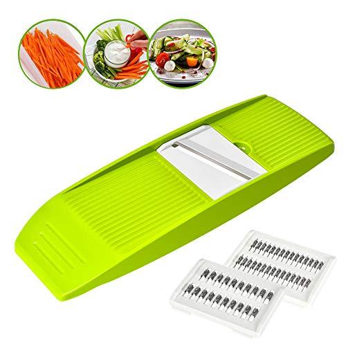 Vegetable Julienne Slicer, GIGRIN 3 in 1 Mandoline Slicer Handheld Vegetable Grater Shredder Professional for Cutting Food into Slices, Thick or Thin Juliennes, Save Your Time