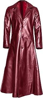 Men's Leather Long Trench Coat The Matrix Neo Long Jacket Coat