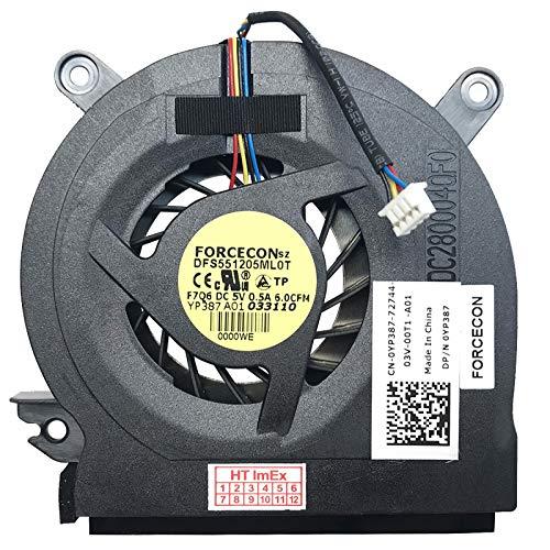Version 3 Fan Cooler Compatible with Dell Latitude E6400, E6400 ATG, E6400 XFR, E6500, E6510