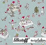 BIO French-Terry Sweatshirt Stoff Wichtel-Weihnachten -
