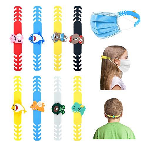 KATELUO 8PCS Hebilla de Extensión, Gancho de Extensión para Orejas, Hebilla de Protector Facial, Hebilla de Extensión Ajustable Para Niños, Adultos (Style B)