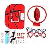 Vbest life Juego de Placa de Baloncesto de Juguete Ajustable para Interiores, Mini Placa de Baloncesto para niños con aro para Juguete de Interior para niños(Gancho de plástico + Gancho Adhesivo)
