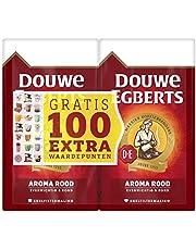 Douwe Egberts Filterkoffie Aroma Rood Dubbelpak met Gratis 100 Extra Waardepunten (6 Kilogram, Intensiteit 05/09, Medium Roast Koffie), 6 x 1000 Gram