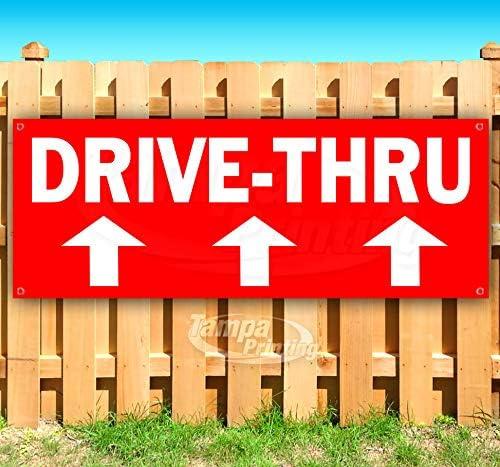 Drive-Thru 13 oz Banner Heavy-Duty Mesa Mall Vinyl Discount mail order Non-Fabric Single-S