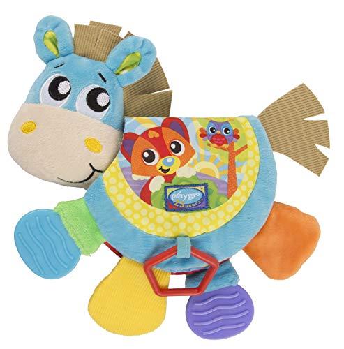 Playgro Klipp Klapp Pferd Musik und Bilderbuch, Baby Spielzeug, Ab 3 Monate, BPA-frei, Bunt, 40219