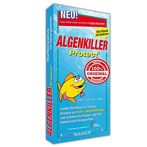 Algenkiller Protect® - Wasserpflege für Garten- und Schwimmteiche (75 g - für max. 5.000 Liter)