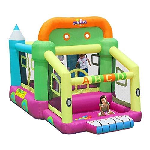 FGVDJ LuoMei Castillo Inflable de trampolín al Aire Libre Castillo Inflable de Interior Tobogán para niños Inicio Cuadrado Suge Jumping Fitness Trampolinegreen, 350x2
