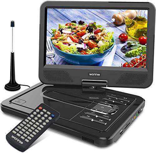 WONNIE フルセグポータブルdvdプレーヤー 10.5型 地デジ 車載 DVDプレーヤー フルセグ ワンセグ tvチューナー リージョンフリー アンテナ 車載 DVDプレーヤー USB/AV対応 CPRM機能 メーカー3年保証