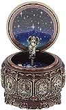 Jeffergarden Boîte à Musique Vintage avec 12 Constellations en Rotation, lumière LED Scintillante (Leo)